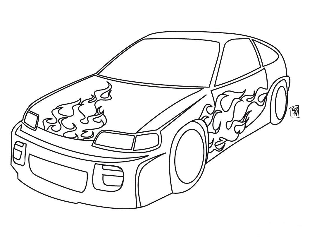 Dibujo de Carro para colorear ~ Colorea el dibujos