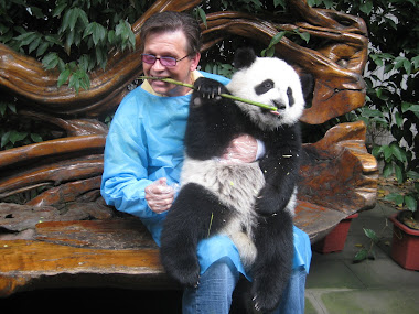 robert margetts with panda bear
