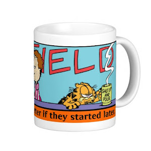 I'd like mornings better | Funny Garfield Coffee Mug