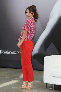 Sarah Shahi strikes a pose in Monaco at a photocall