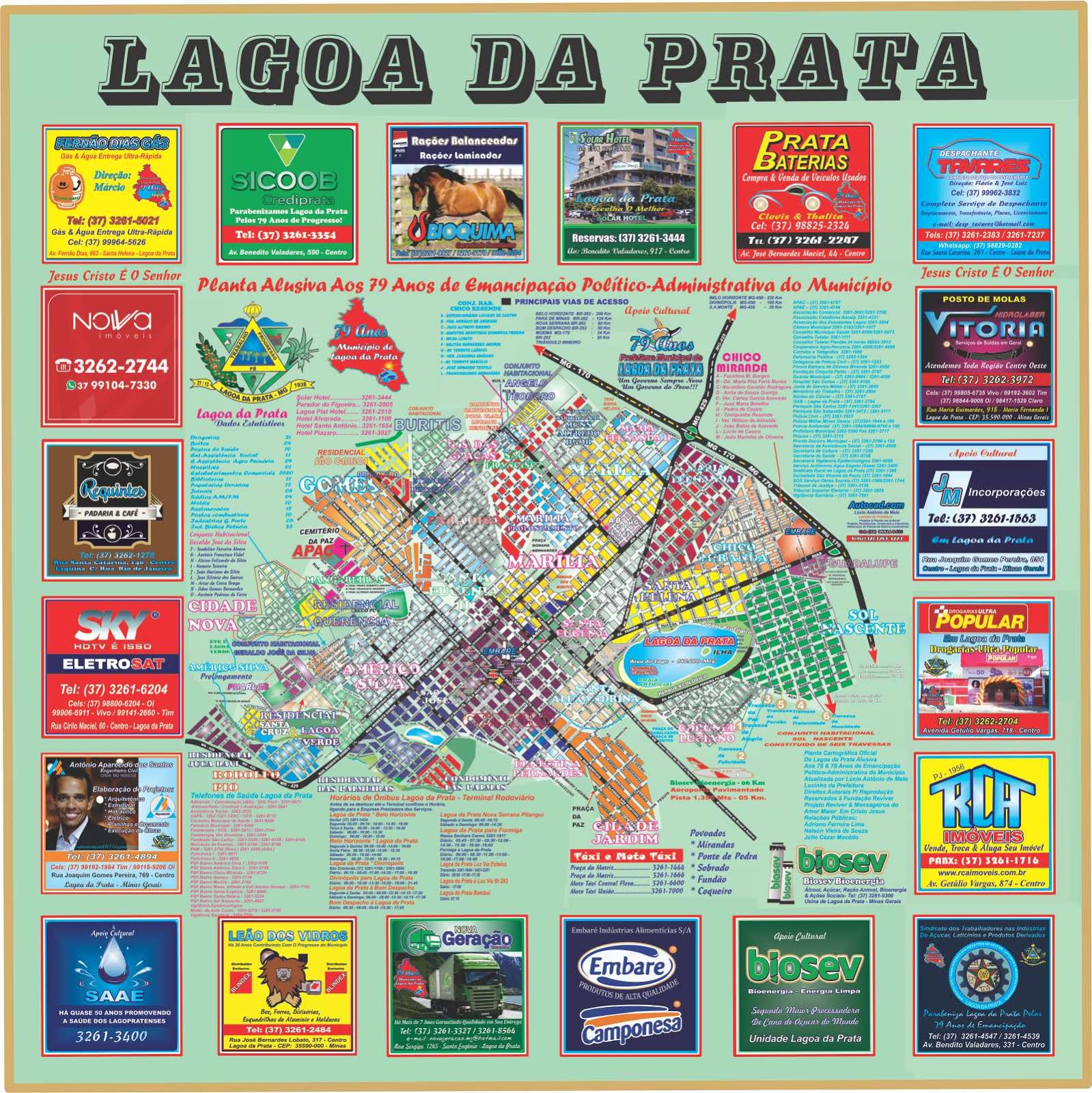 Mapa Completo de Lagoa da Prata
