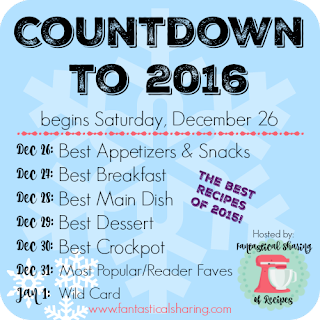 Find some new recipes to try in the new year, as we say goodbye to 2015! The Countdown to 2016 has a slew of #recipes from many food blogs! #Countdownto2016 #newyear