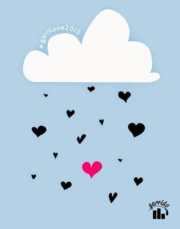 Para la imagen de este año no hemos escatimado en ñoñería... ¡¡¡lluvia de corazones!!!