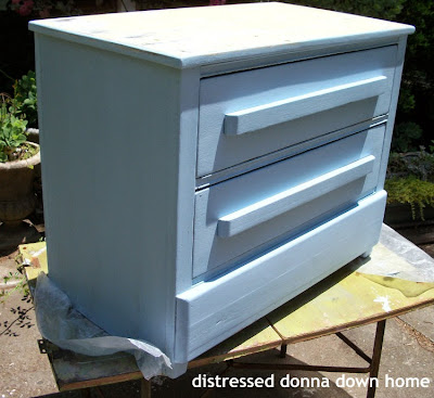 dresser makeover, American Decor Chalky Finish Paint, serene blue