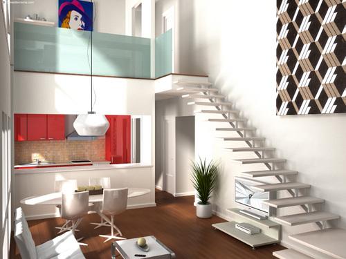 Archi love loft in perfetto stile newyorkese e contemporaneo for Decorar un loft de 50 metros