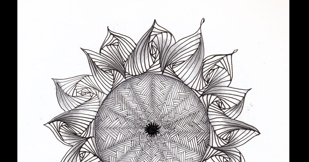 Sunflower Line Drawing : Susan goetter: challenge 43 sunflower inspired