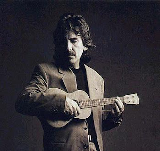 George Harrison with ukulele