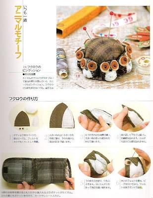 bolsinha de coruja com moldes