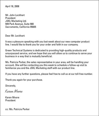 Pleasure Doing Business With You Letter