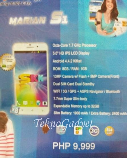 SKK Mobile Marian S1, 5-inch HD Octa Core Android KitKat Phablet For Php9,999