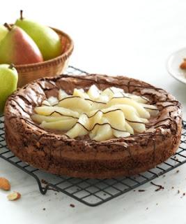 Receita de Torta Brownie com Peras