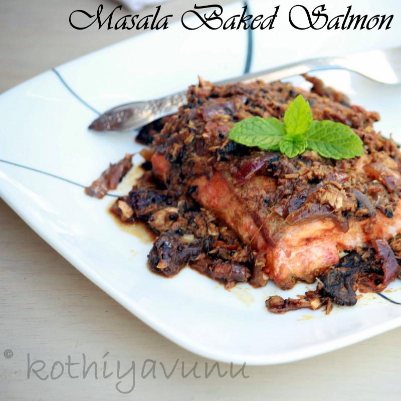 Masala Baked Salmon Recipe