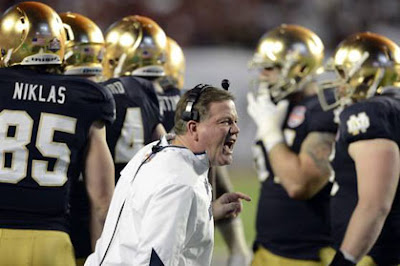 Nightmare end to the season for Brian Kelly and the Notre Dame team
