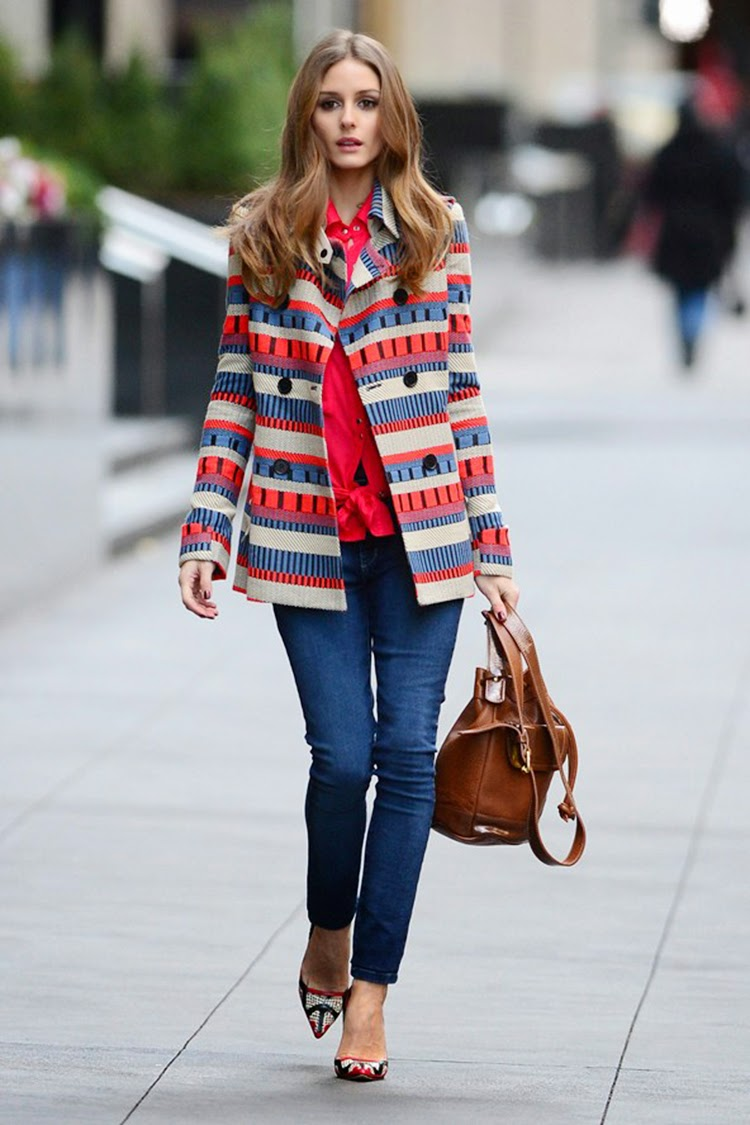 Olivia Palermo Looking Stylish With a Statement Coat