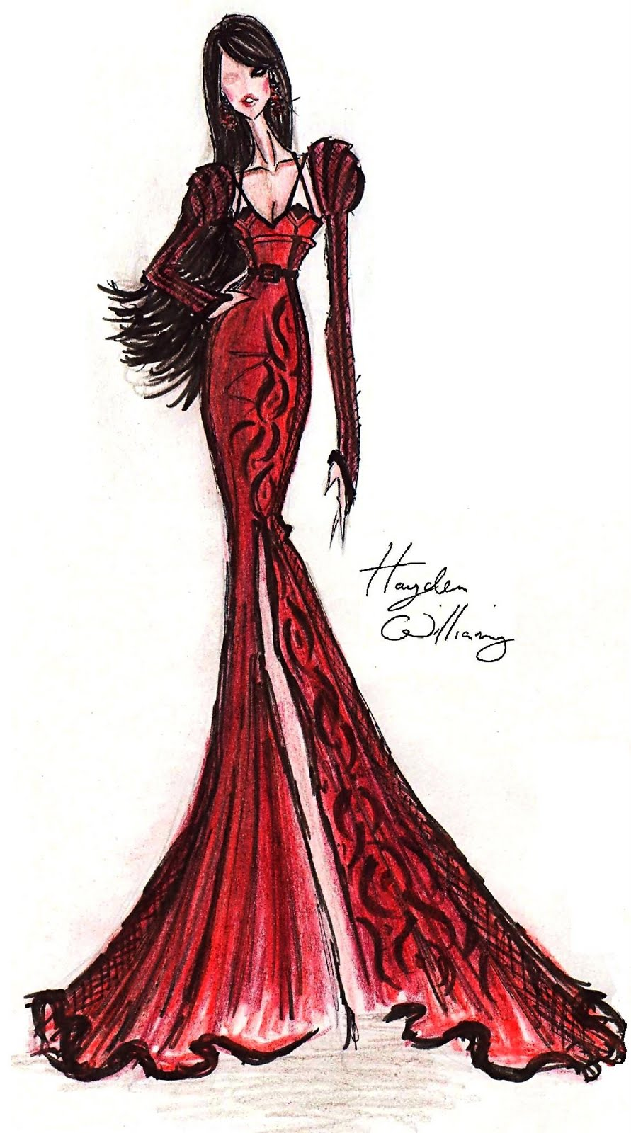 hayden williams fashion illustrations june 2011