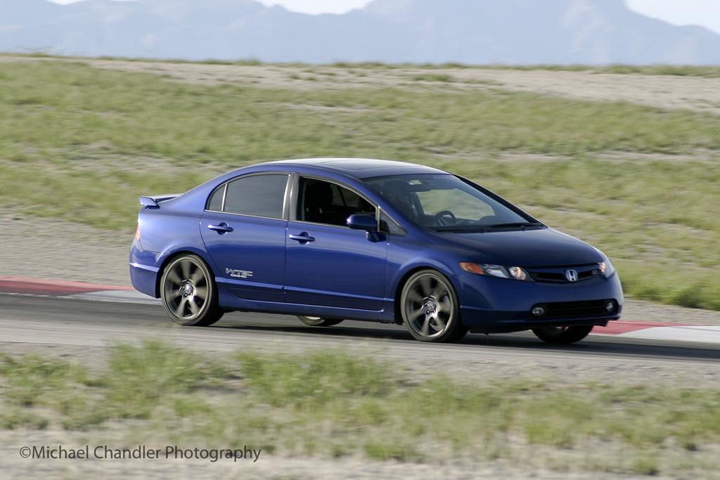 Typowa Honda Civic, VIII, wyścigi, sport, badass, VTEC is kicking in yo, po tuningu, ciekawe sedany, niebieska