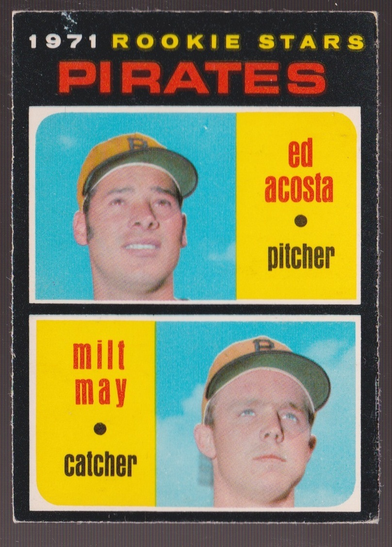 Ed Acosta (and Milt May) 1971 baseball card