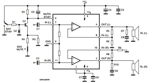 18W+18W Stereo Amplifier