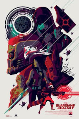New York Comic Con 2015 Exclusive Guardians of the Galaxy Variant Marvel Screen Print by Tom Whalen & Grey Matter Art