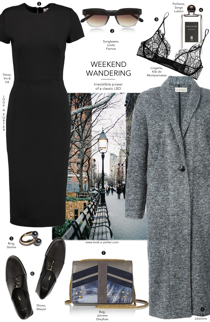 How to style little black dress for casual weekend outfit via www.look-a-porter.com style & fashion blog