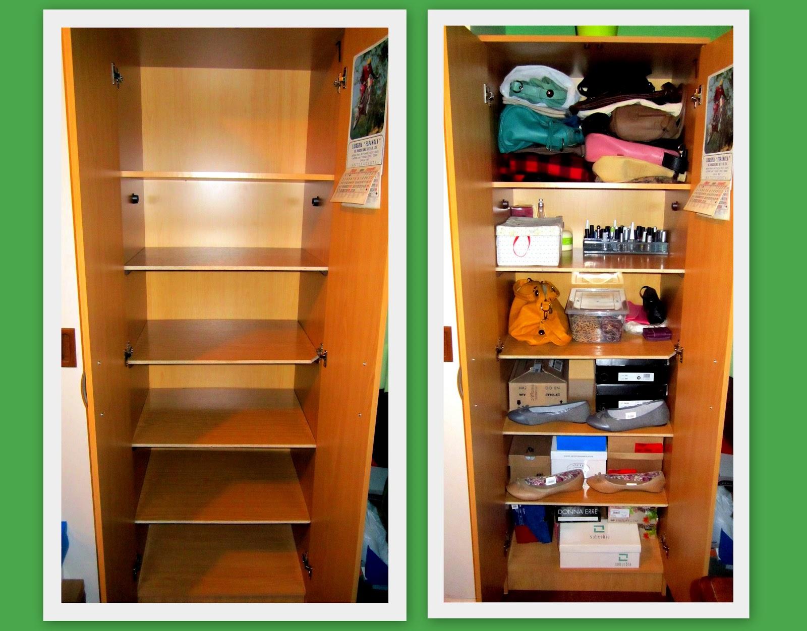 El nuevo closet for Closet de madera para zapatos
