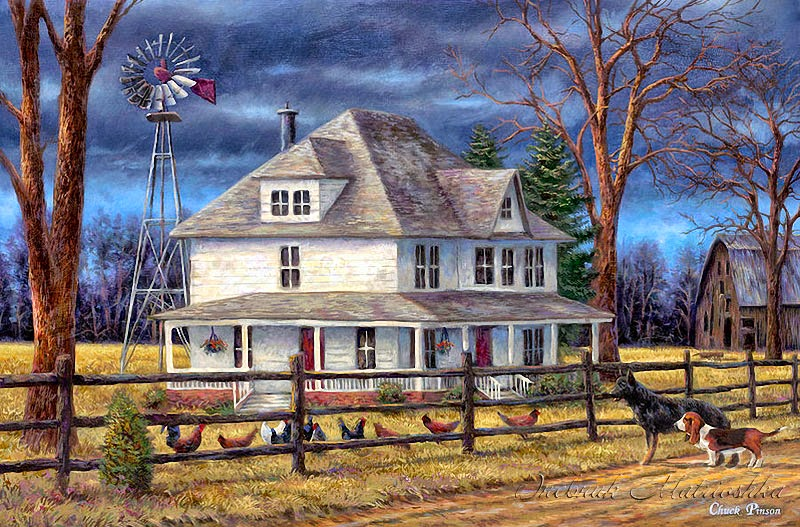 Chuck pinson 1978 the sweet garden romantic realism for The country house collection