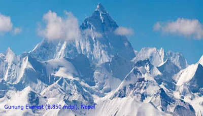 Gunung Everest (8.850 mdpl), Nepal