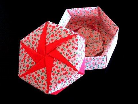 origami maniacs tomoko fuse´s origami hexagonal box by tomoko fuse kusudama diagrams tomoko fuse hexagon box instructions #6