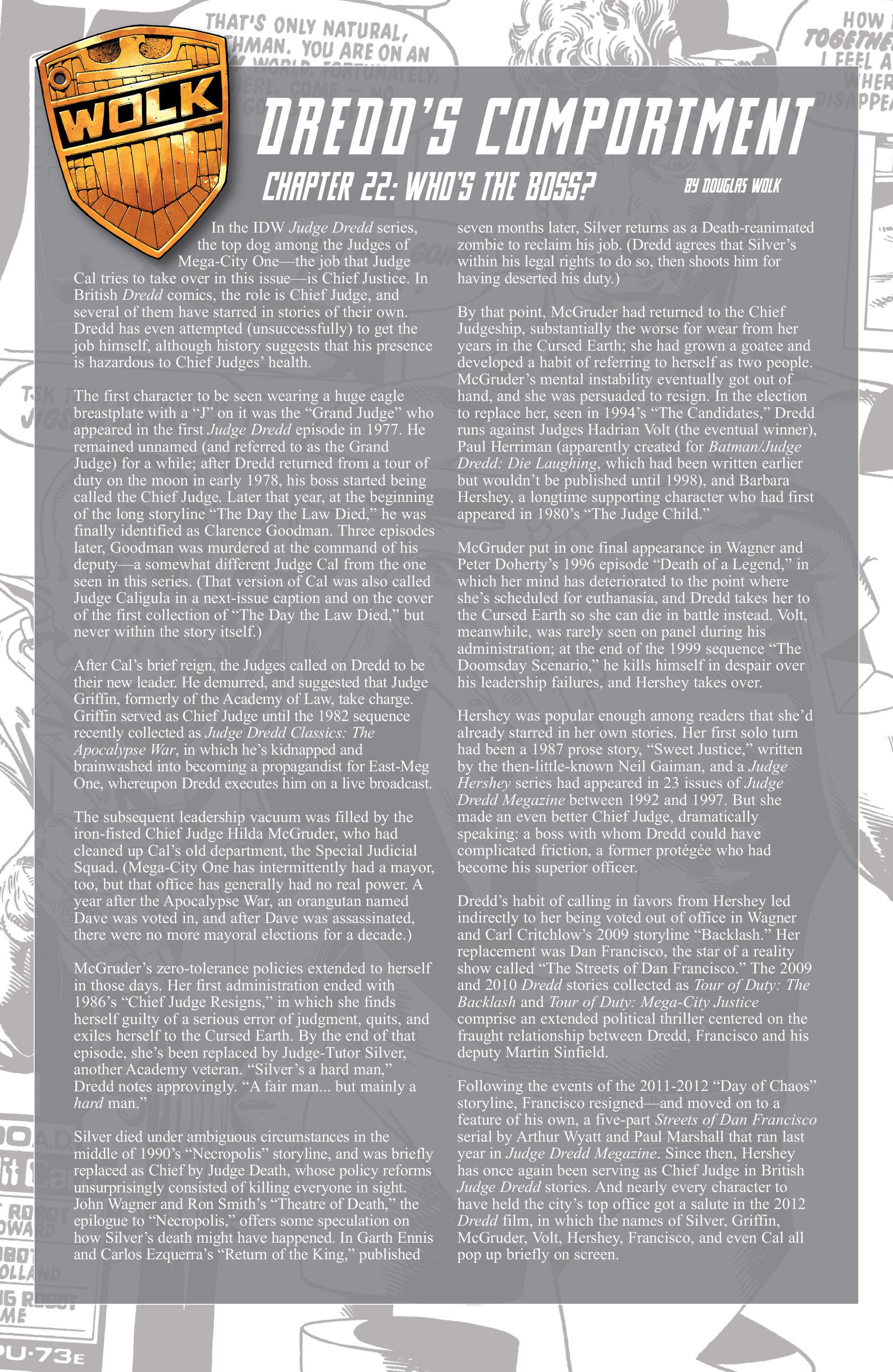 Read online Judge Dredd (2012) comic -  Issue #22 - 24