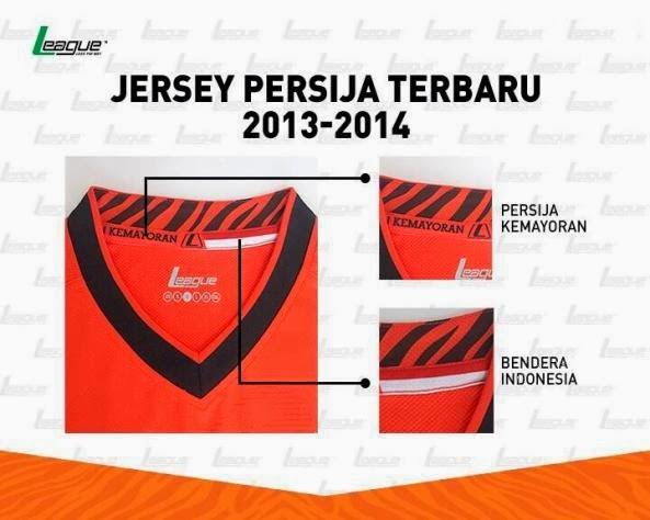 Kaos Bola Indonesia Super Lague Persija Home 2014