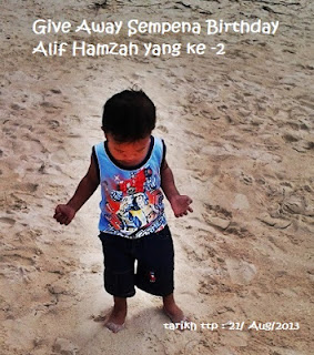 Give Away sempena Birthday Alif Hamzah yang ke-2
