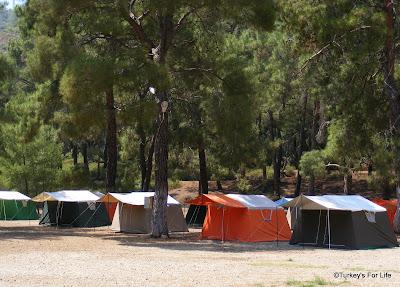 Campsite At Aksazlar Beach, Fethiye