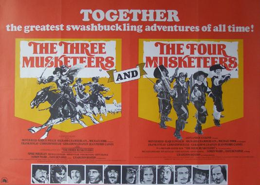 cast of the three musketeers 1973