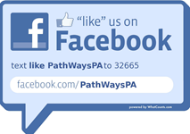 Like us on Facebook by texting us or clicking here
