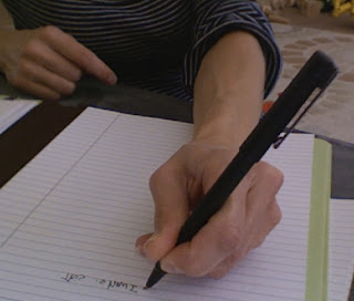 I hold my pen weird when I write