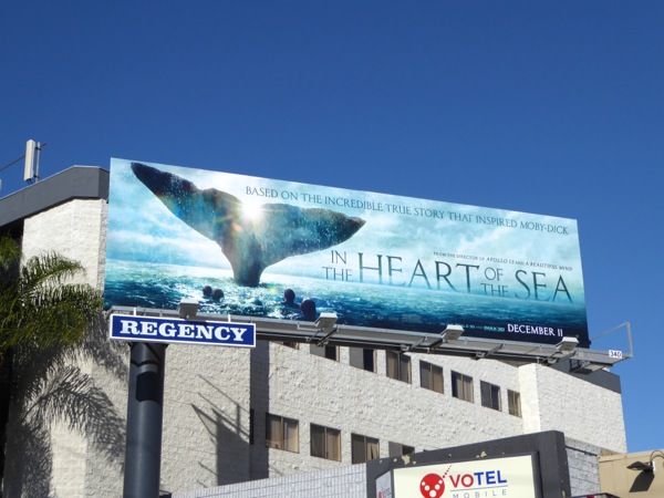 In the Heart of the Sea film billboard