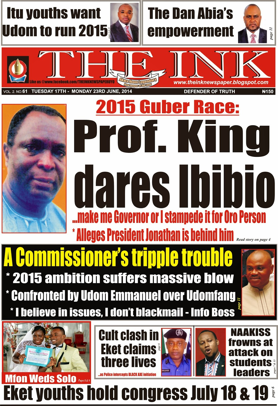 Latest Edition of The Ink Newspaper