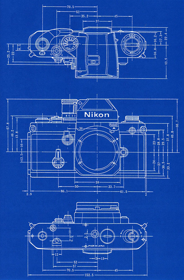 Shooting Film Blueprints Of Nikon Slr Cameras