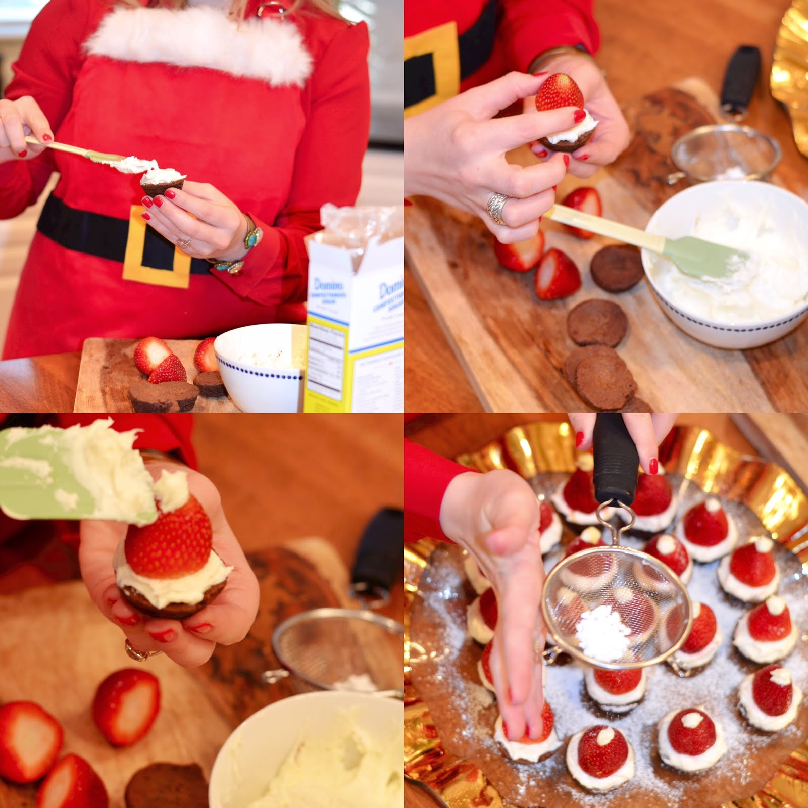 Santa Brownie Bites