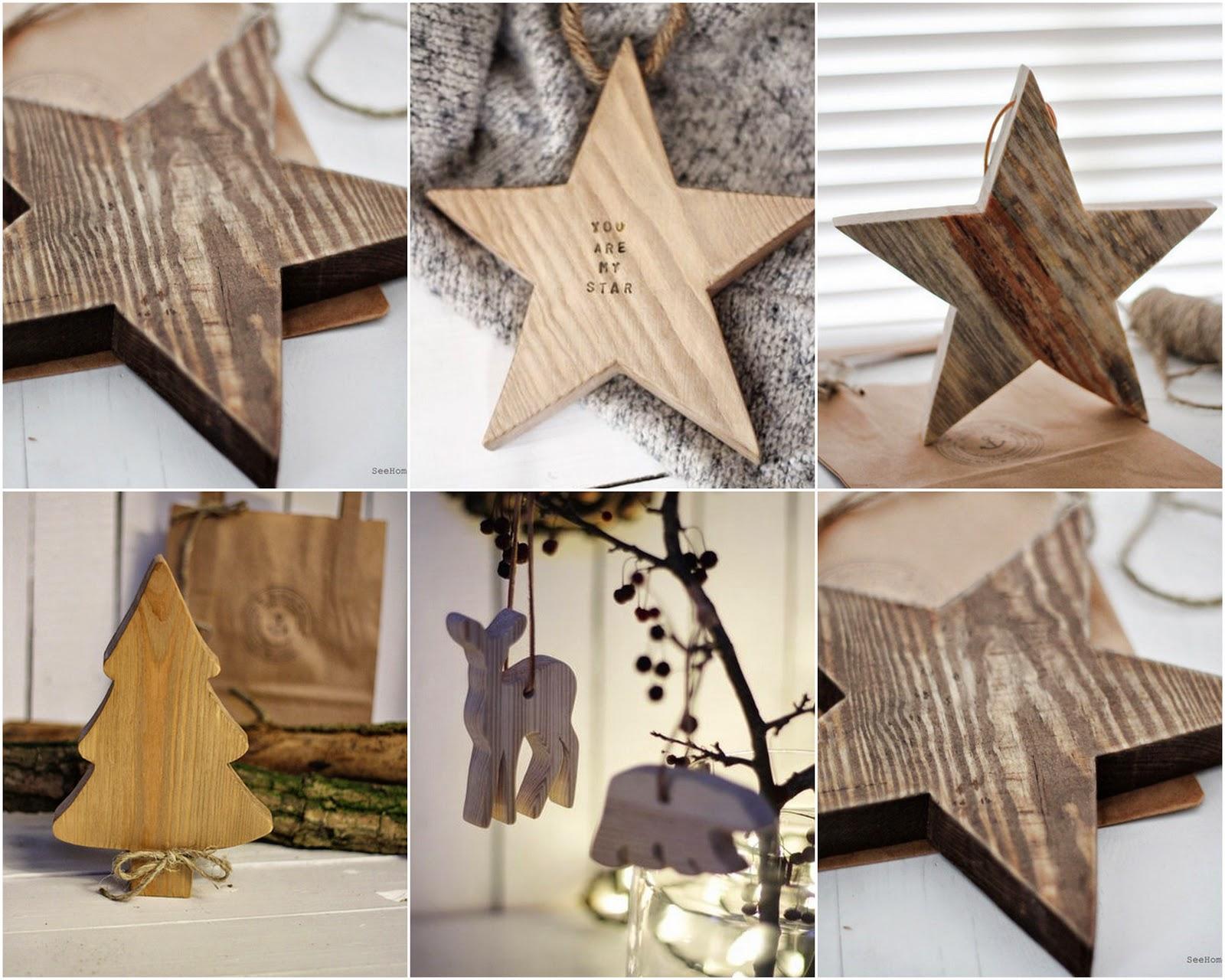 Prezent,Boże Narodzenie,Drewniane dekoracje,Star,Stars