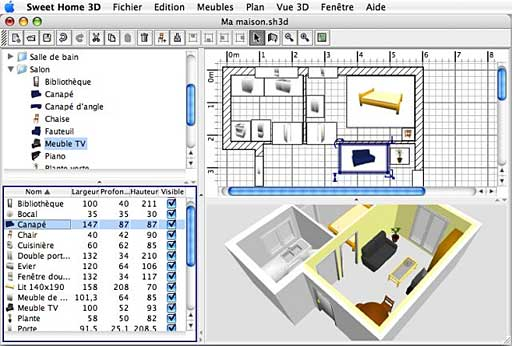 Design a software application sofa design Software to make 3d house plan