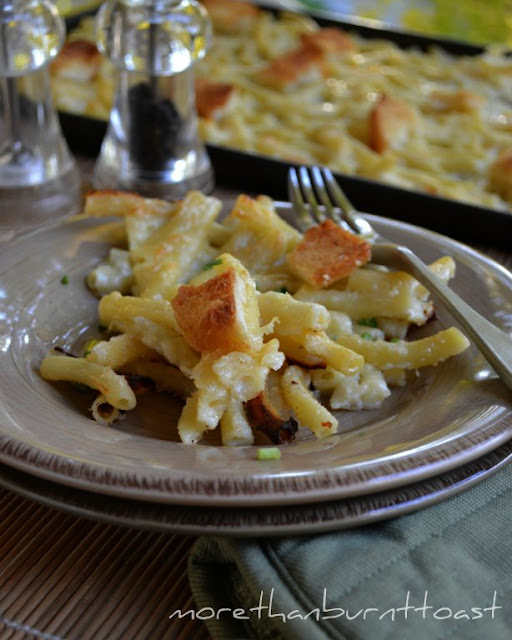the ultimate comfort food macaroni and cheese baked in a baking sheet