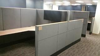 Modular office cubicles, Haworth premise