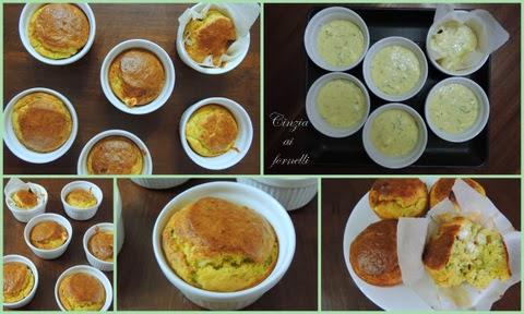 muffin zucchina e feta