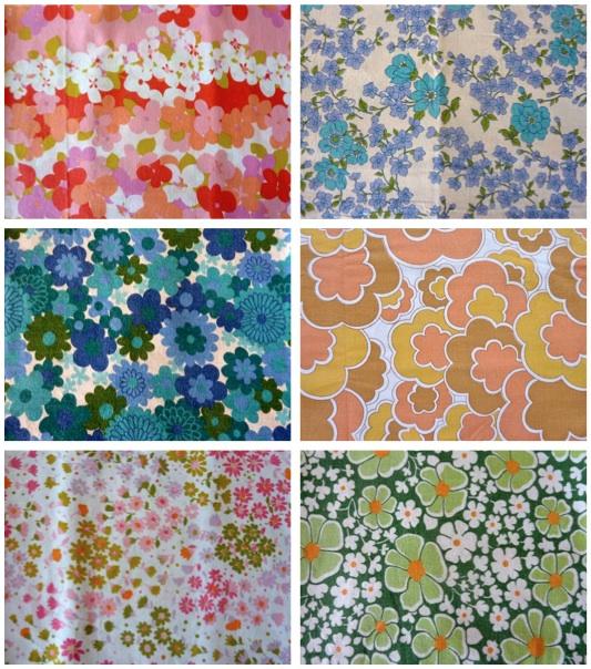 My rose valley retro fabric mania for Retro fabric
