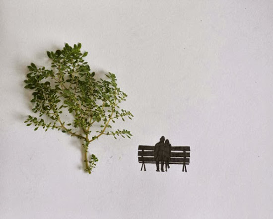 Creative with just a Pencil & Leaves