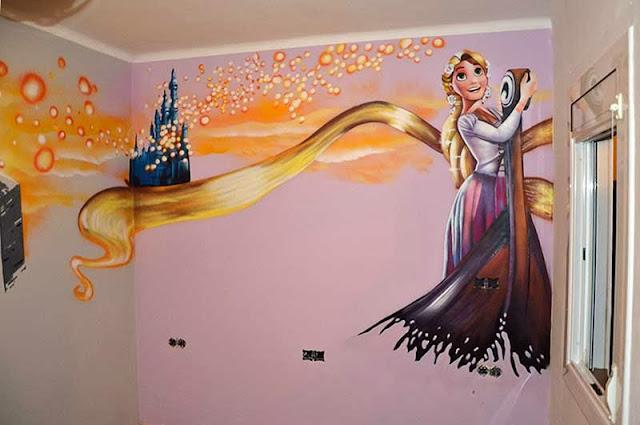 Berok graffiti mural profesional en barcelona murales for Murales pintados en paredes de habitaciones