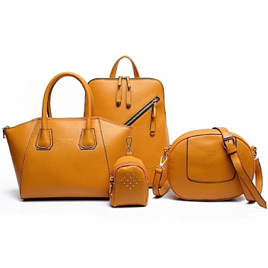 AA FASHION BAG (4 IN 1 SET) - BROWN