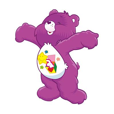 Desenho dos ursinhos carinhosos colorido