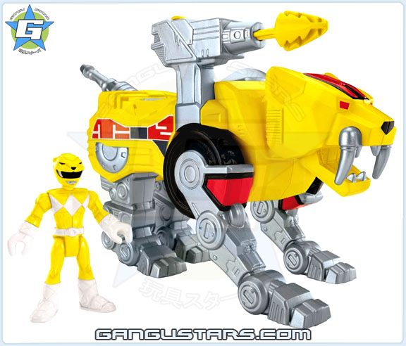 Imaginext Mighty Morphin Power Rangers Zords Assortment Yellow Ranger DinoZord イマジネックスト ジュウレンジャー 戦隊
